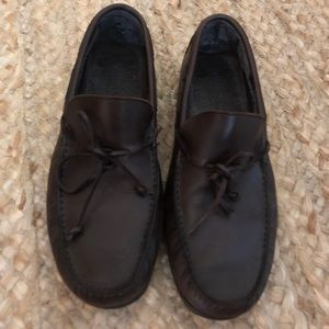 Men's Ermenegildo Zegna Moccasins 10 brown shoes